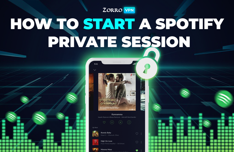 How to start a Spotify private session? With ZorroVPN