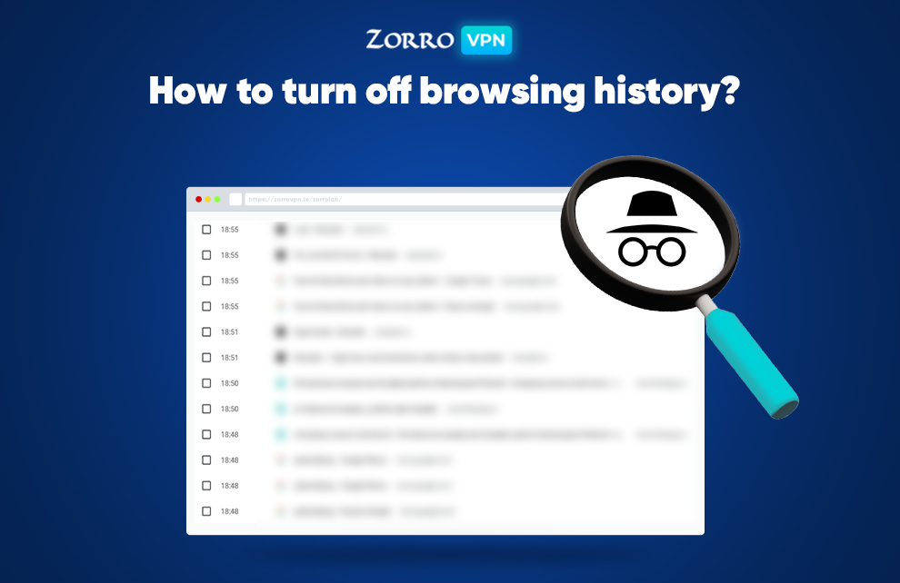 turn off browsing history